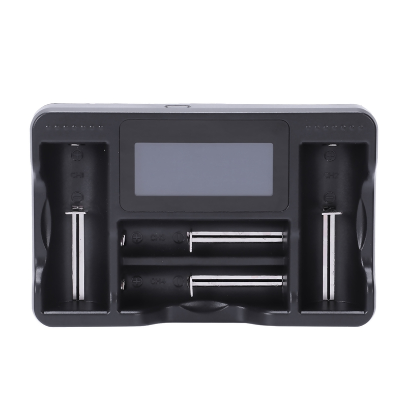 Universal 18650 26650 Battery Charger 4 Slot Lcd Display Charger Micro Usb Interface Lithium E Cigarette