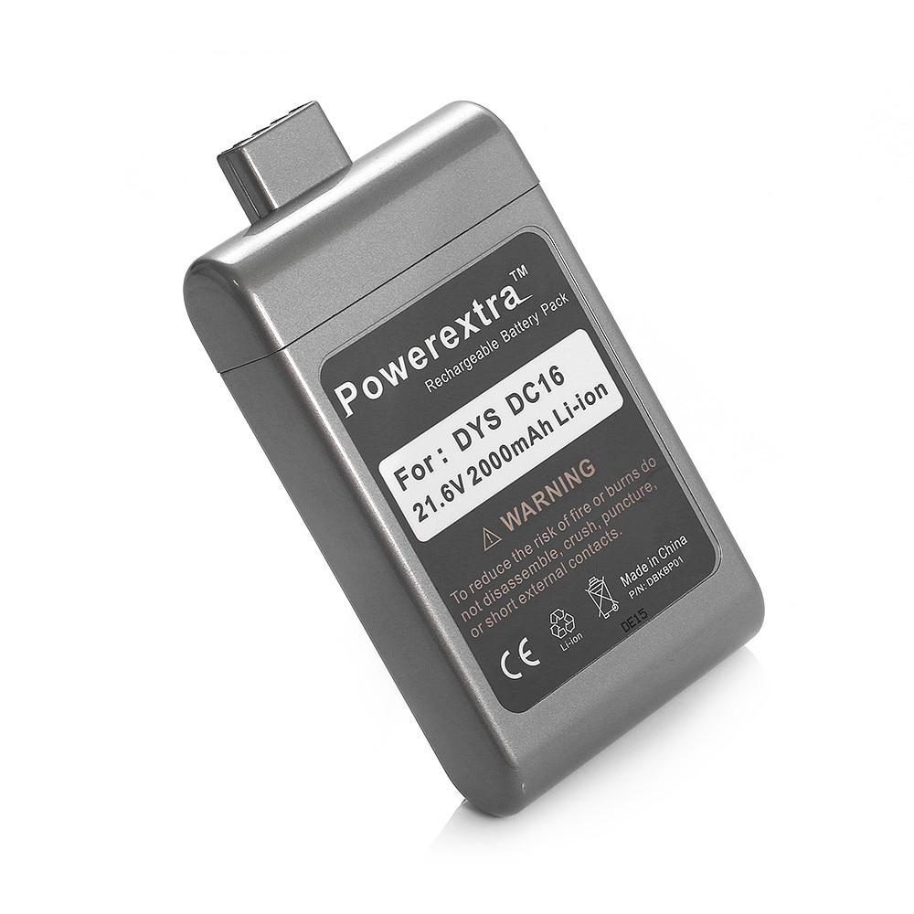 Powerextra 2000 мАч 21.6 В Замена Батарея для <font><b>Dyson</b></font> Пылесос Инструменты DC16 12097 912433 BP-01