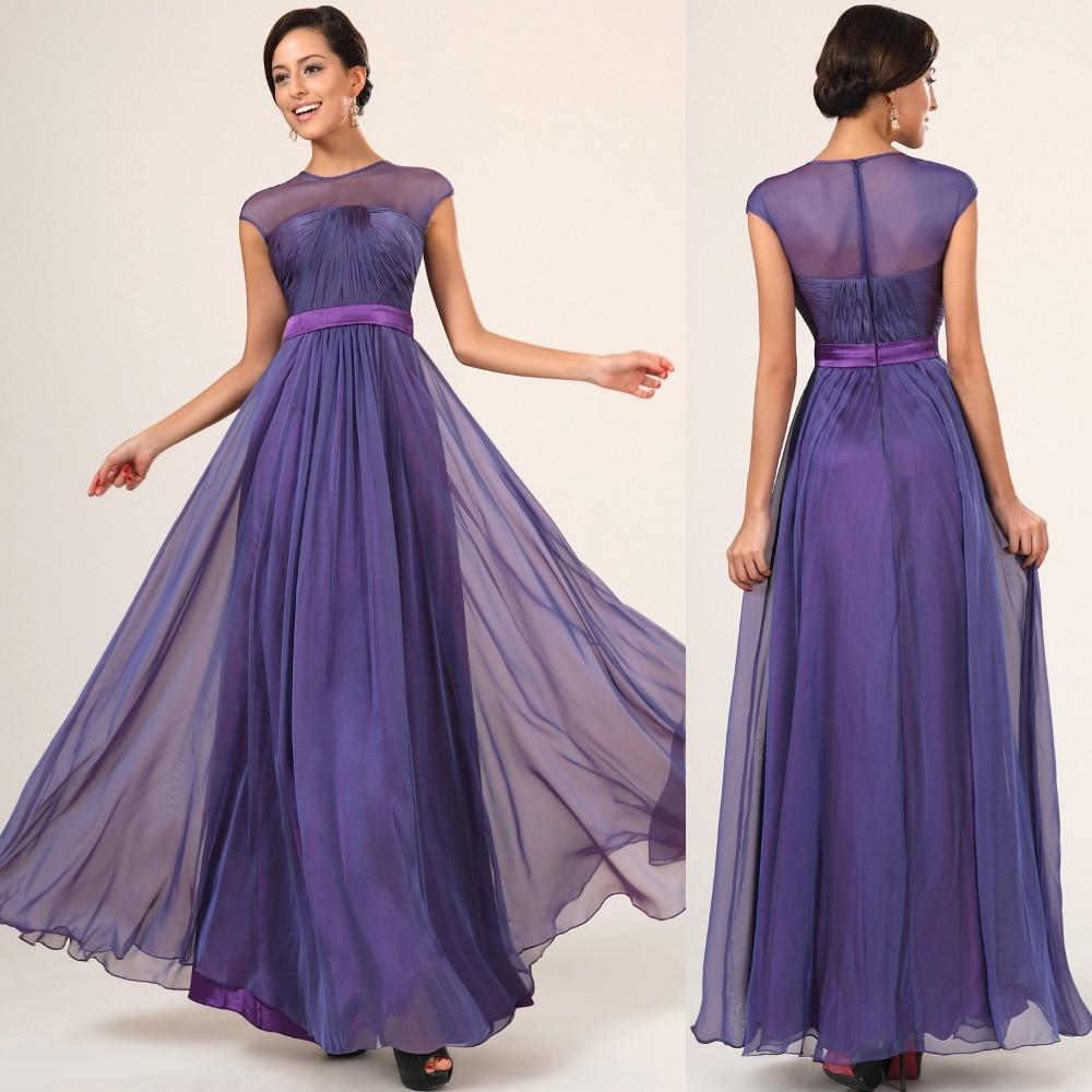 Excepcional Vestidos De Dama De Color Púrpura Y Gris Festooning ...