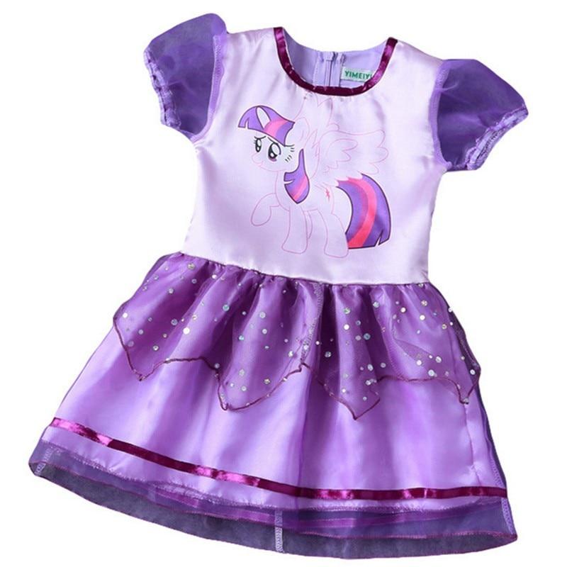 CNJiaYun Neonata del Vestito Dei Bambini little Pony Vestiti Dalle Ragazze  Del Fumetto Della Principessa Costume Party Dress Abbigliamento Per Bambini  ... 137ebf40c468