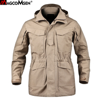 MAGCOMSEN M65 UK US Army Clothes Tactical Windbreaker Men Thermal Flight Coat Male Hooded Military Field Jacket AG PLY 30
