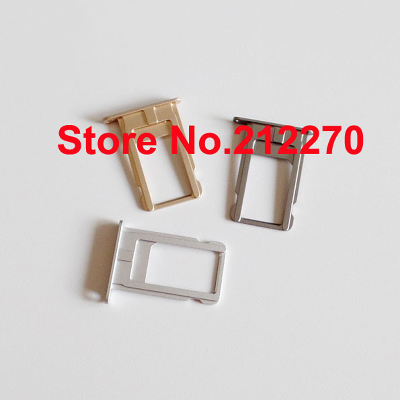 YUYOND For iPhone 6 Plus Nano Sim Card Tray Slot Holder Original New Replacement Parts Gold