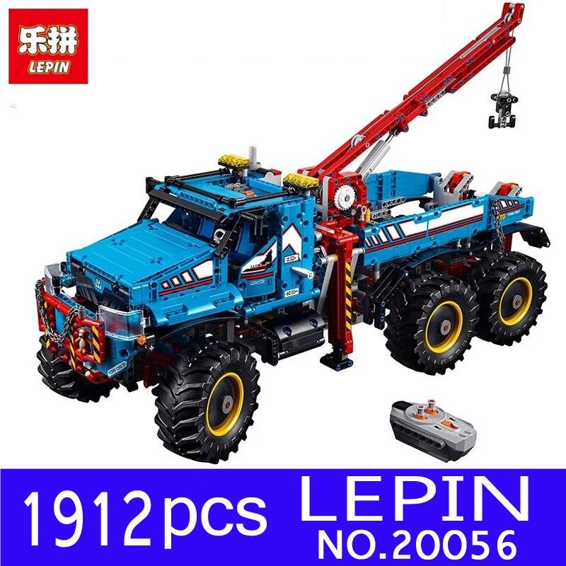 Lepin 20056 1912Pcs Technic Series Ultimate Terrain 6X6 Remote Control Truck Set Building Blocks Bricks for Children Toys 42070 inov 8 сумка all terrain kitbag black