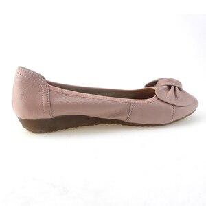Image 5 - BEYARNE 9 สี PLUS ขนาด (34 43) สบายๆผู้หญิงของแท้หนังแบนรองเท้ารองเท้าผู้หญิงพยาบาลทำงานรองเท้าผู้หญิง