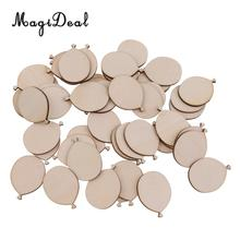 MagiDeal Handmade 50Pcs/Lot Funny Wooden Balloons Cutout DIY Crafts Scrapbooking for Wedding Party A