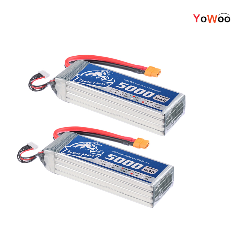 2pcs YOWOO 14.8V Lipo 4s 5000mAh 50C-100C Li-Poly Battery RC lipo Battery For Drone AKKU Helicopter Quadcopter Car Airplane UAV 7 4v 500mah 50c lipo battery