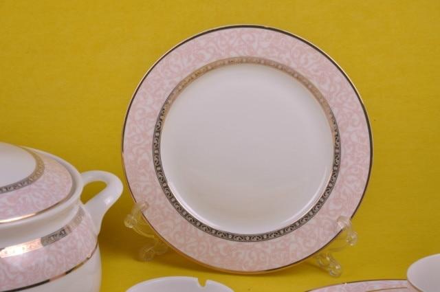 Dinnerware Set 46pcs Pink Memery Ceram Tableware Set Ceramic Plates Bowls Dishes Plates Soupe BowlsBine China-in Dinnerware Sets from Home \u0026 Garden on ... & Dinnerware Set 46pcs Pink Memery Ceram Tableware Set Ceramic Plates ...