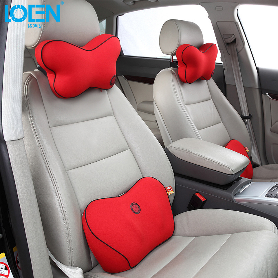 Butterfly memory foam car seat neck support headrest lumbar support back chair cushion for toyota vw