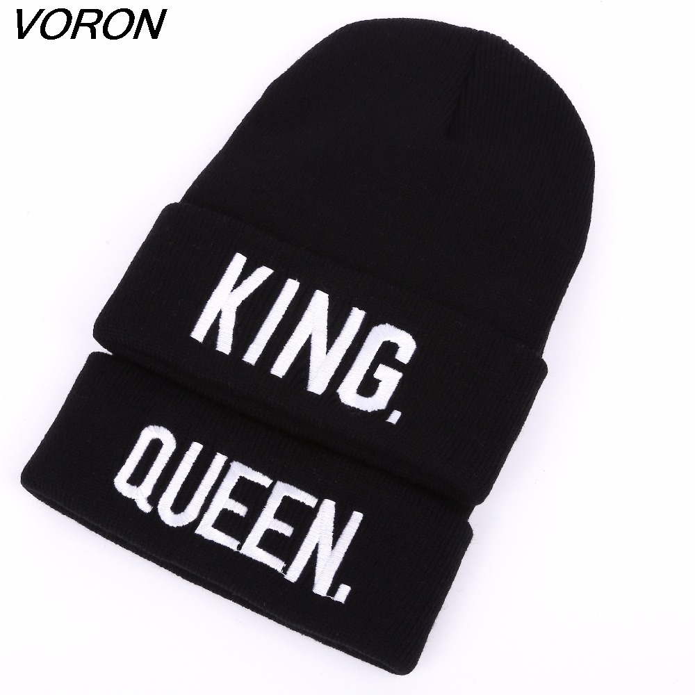 VORON KING Q Beanies Cap Brand Embroidery Warm Winter Hat Knitted Cap Hip Hop Men Women Lovers Hats Street Dance Bonnet Skullies