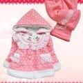 Anlencool 2017 Осень и зима детская одежда набор Хлопка младенца месяцев девочка младенческой ватные куртки брюки установить