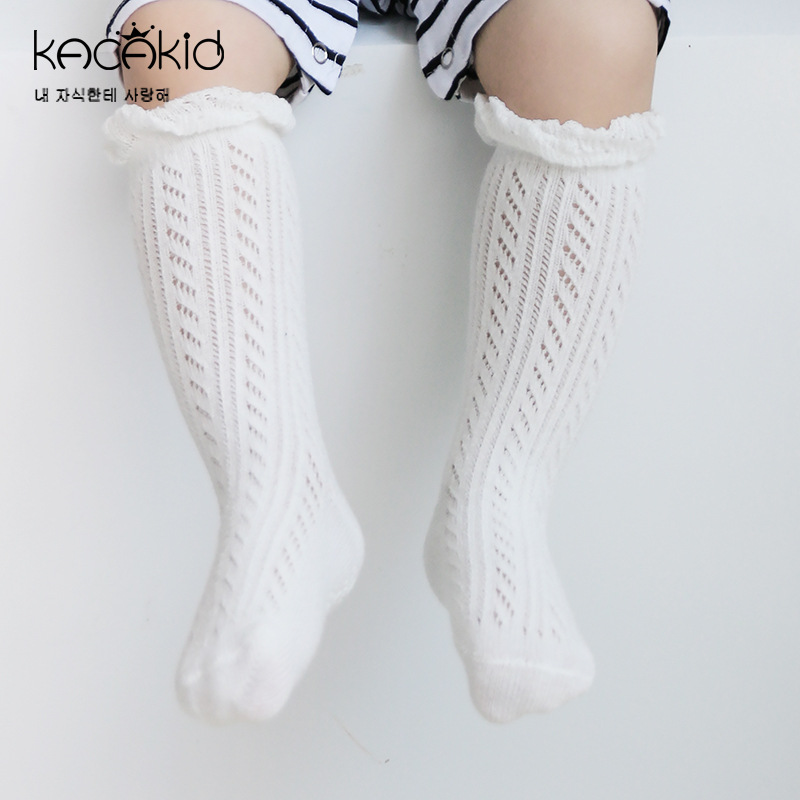 10 Pairs/set Fall Aunti Slip Knee High Socks Kids Baby Girls Breathable Floral Ruffle Cotton Leg Warmers Meia Menina Cheap Stuff