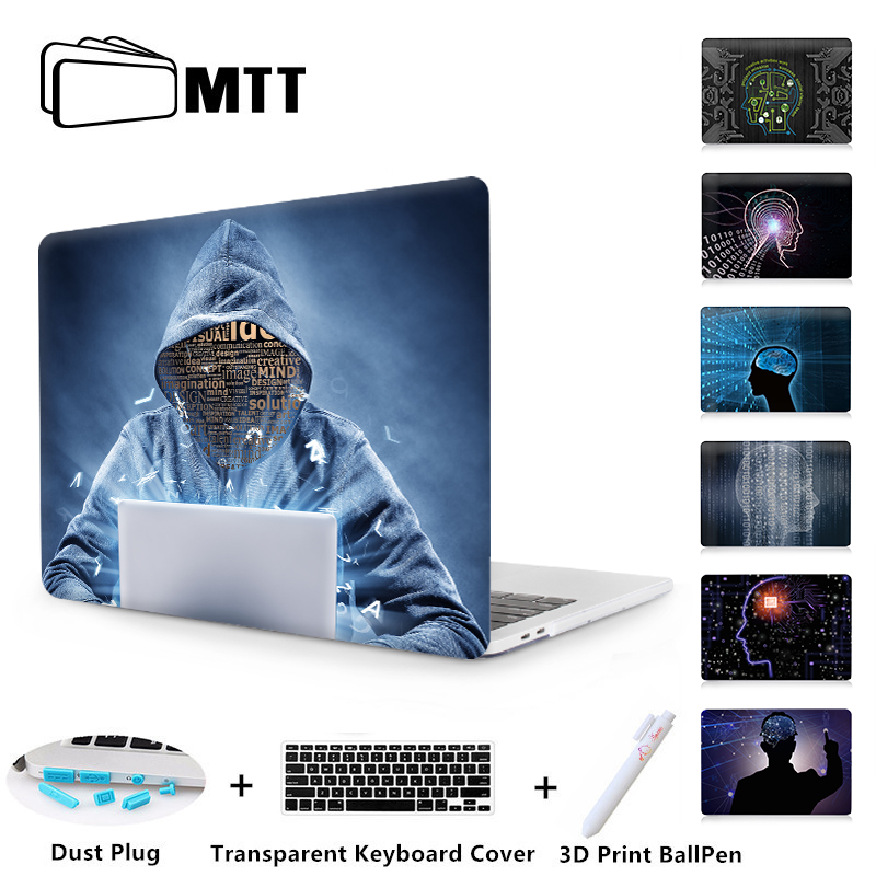 MTT Hard Case For Apple Macbook Pro Retina 12 13 15 Air 13 11 inch Science Fiction Brain Laptop Sleeve Pro 13.3 A1706 Cover mtt flowers crystal hard case for apple macbook air pro retina 11 12 13 15 floral cover for mac book pro 13 3 inch laptop sleeve