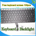 "Brand New AZERTY FR French keyboard+Backlight Backlit+100pcs keyboard screws For MacBook Air 13.3"" A1369 A1466 2010-2015 Years"