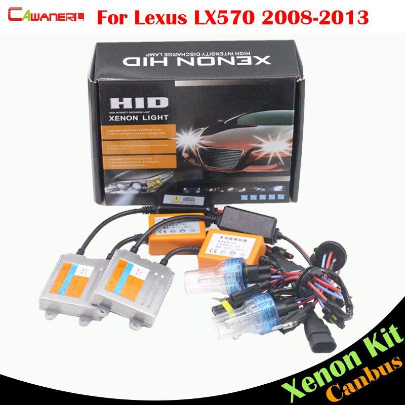 Cawanerl 55W Canbus HID Xenon Kit Ballast Lamp AC 3000K 4300K 6000K 8000K Car Headlight Low Beam For Lexus LX570 2008-2013