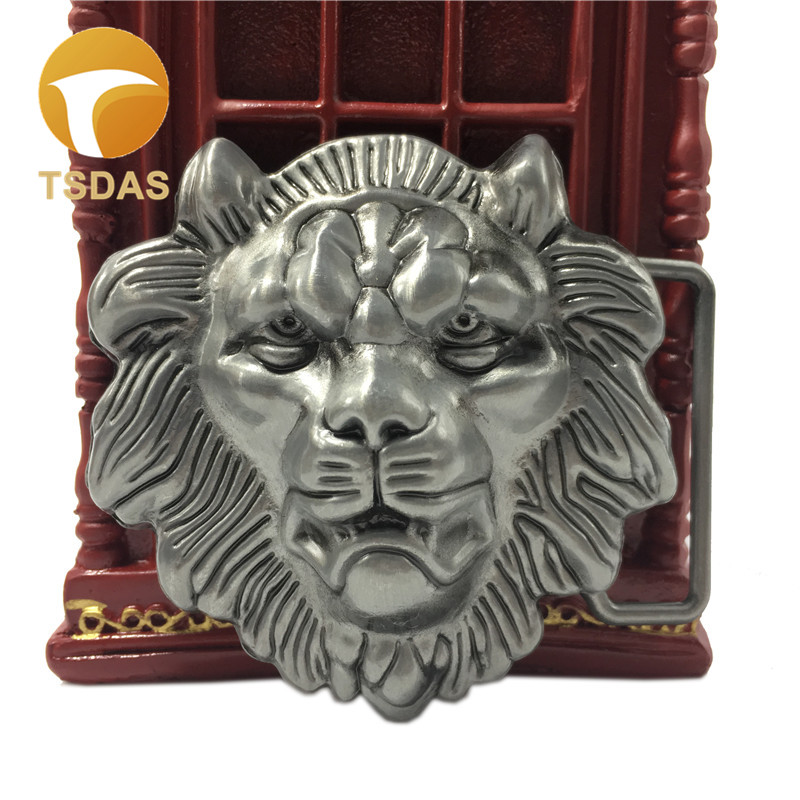 Cool 3D The King of The Forest Lion Head Belt Buckle Suitable For 4cm Width Belt Removable Belt Buckle Free Shipping