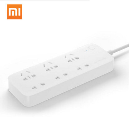 In Stock Original Xiaomi Smart Power Strip WiFi APP Control AU Plug Extension Power Socket 6 Ports With EU Adapter to Choose