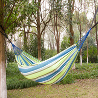 Outdoor Hot Blast Leisure Garden Style Family Outdoor Canvas Single High Quality Hammock