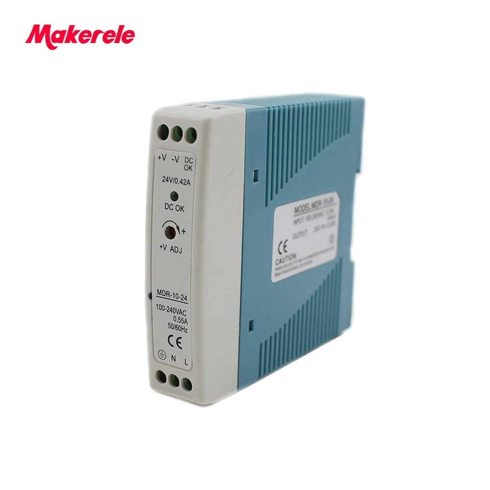 Single output Din Rail Switching Power Supply 10w AC DC Power Supply mini Size 5V 12V 15V 24V for led driver from maker electric
