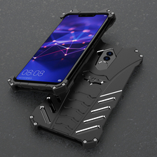 Shockproof Metal Case For Huawei Mate 20 Lite Hard Cover Heat Dissipation Aluminum Alloy Shell Outdoor Sports+Straps+Stand