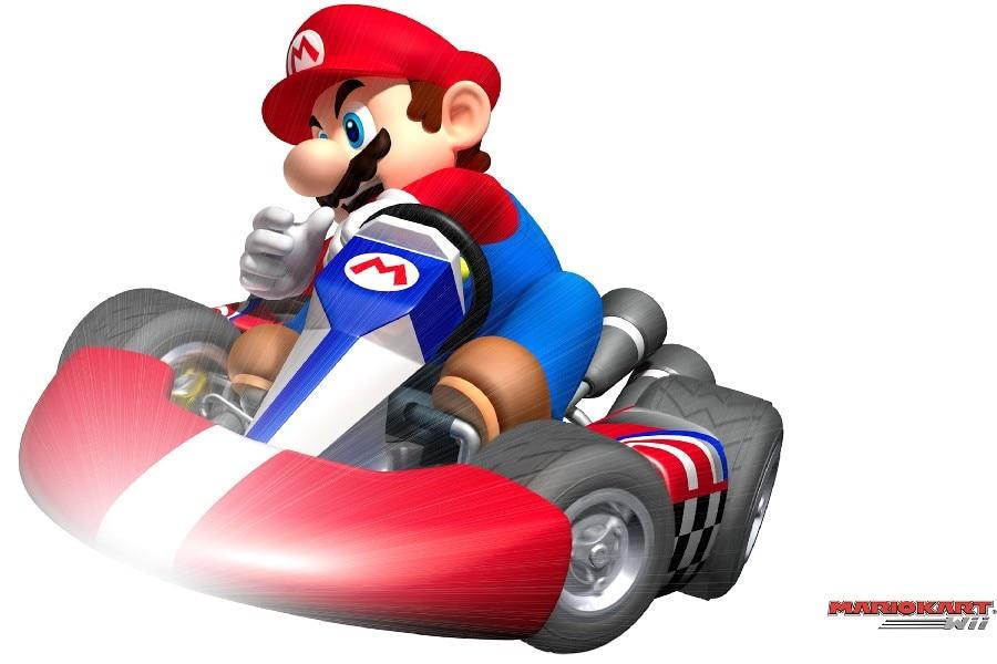 ᐂDIY Marco de dibujos animados Super Mario Kart juego cartel Telas ...