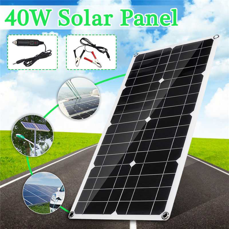 40W Polysilicon Silicon Solar Panel with Dual USB Port for Car Boat Yacht Battery Chargers CLH@840W Polysilicon Silicon Solar Panel with Dual USB Port for Car Boat Yacht Battery Chargers CLH@8