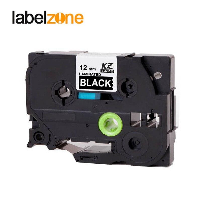 White On Black 12mm Tze335 Compatible Brother P-touch Label Printer Refill Label Tape Tze-335 Tz-335 Tze Tz 335 Tz335 Ribbon