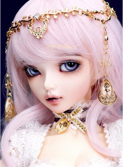 free shipping BJD 1/4 MiniFee Bjd Chloe doll fashion fairyland free eyes and eyelashes free face makeup free shipping oueneifs bjd sd clothes 1 4doll pink collocation purple and white minifee chloe girl and luts bory body