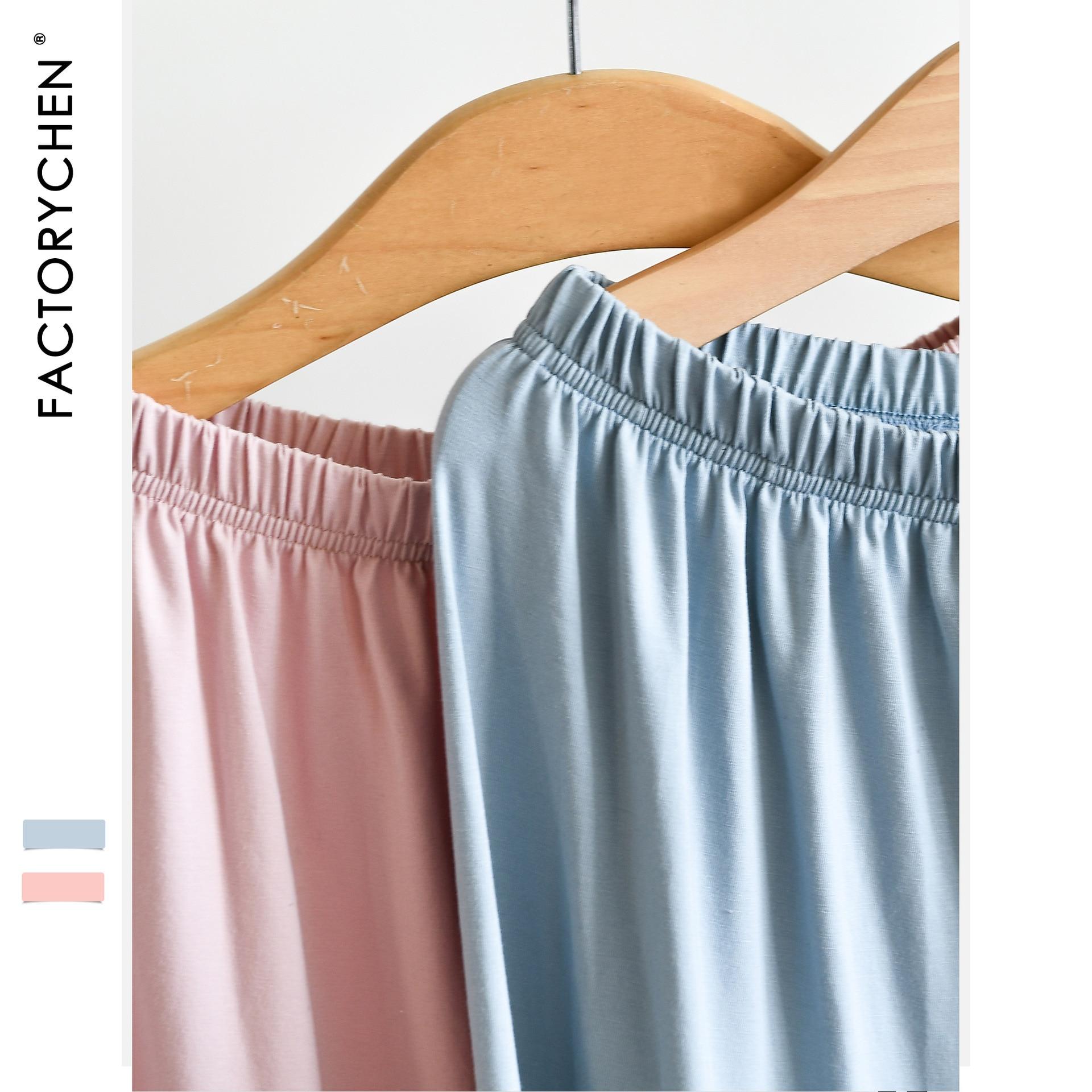 Summer Female Loose Plus Size Sleep Bottoms Comfortable Good Material Elastic Ammonia + Cotton Thin Household Sleepwear Pants 4