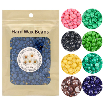 10 Flavors 25g Depilatory Wax Beads Hot Film Hard Wax Pellet Waxing Bikini No Strip Hair Removal Cream Wax Beans