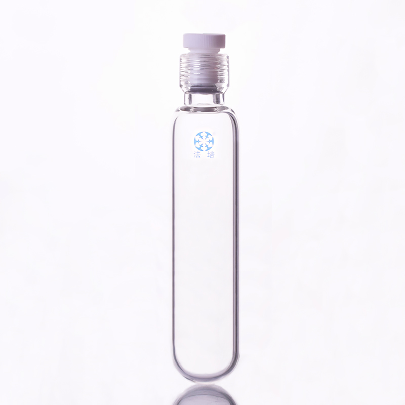 厚肉圧力ボトル、容量 120 ミリリットル、外径 45 ミリメートル、有効長 130 ミリメートル、めねじ 25 ミリメートル、 PTFE ねじプラグ  グループ上の オフィス用品 & 学用品 からの 実験室ボトル の中 1