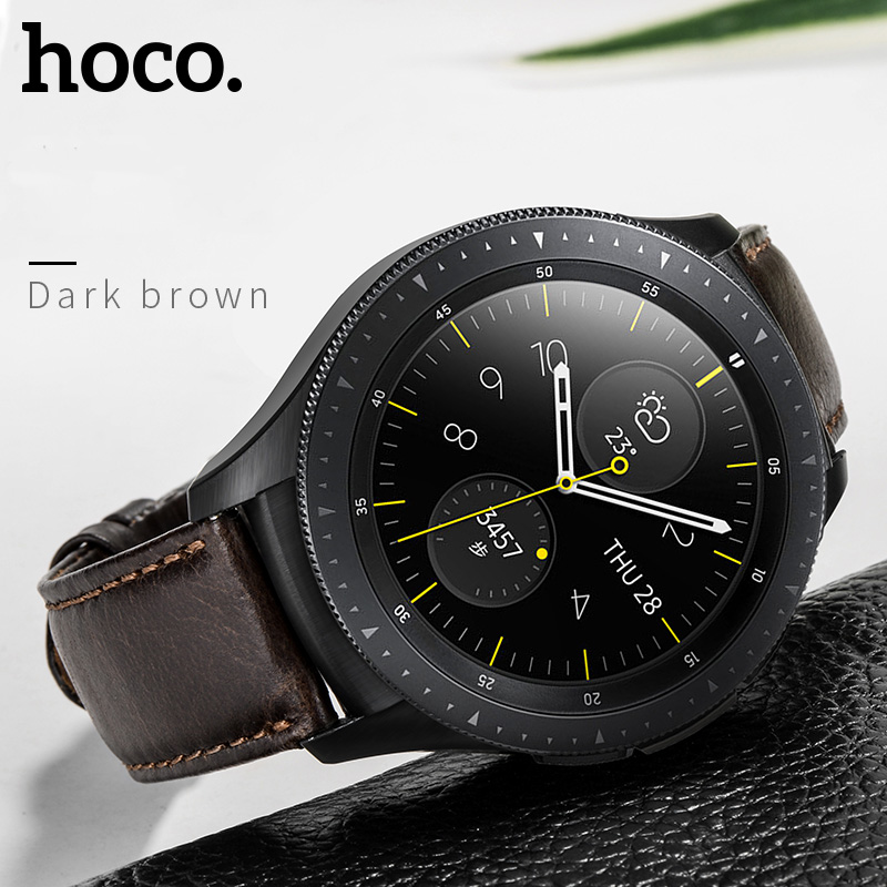 Image 4 - HOCO 20mm 22mm Genuine Leather Business Casual Strap For Samsung Galaxy Watch 42mm Also Compatible For Samsung Galaxy Watch 46mm-in Watchbands from Watches
