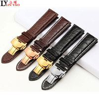 Real Alligator Watch Strap Genuine Leather Watch Bands For Tissot Men Women 16mm 18mm 20mm 22mm Exempt postage