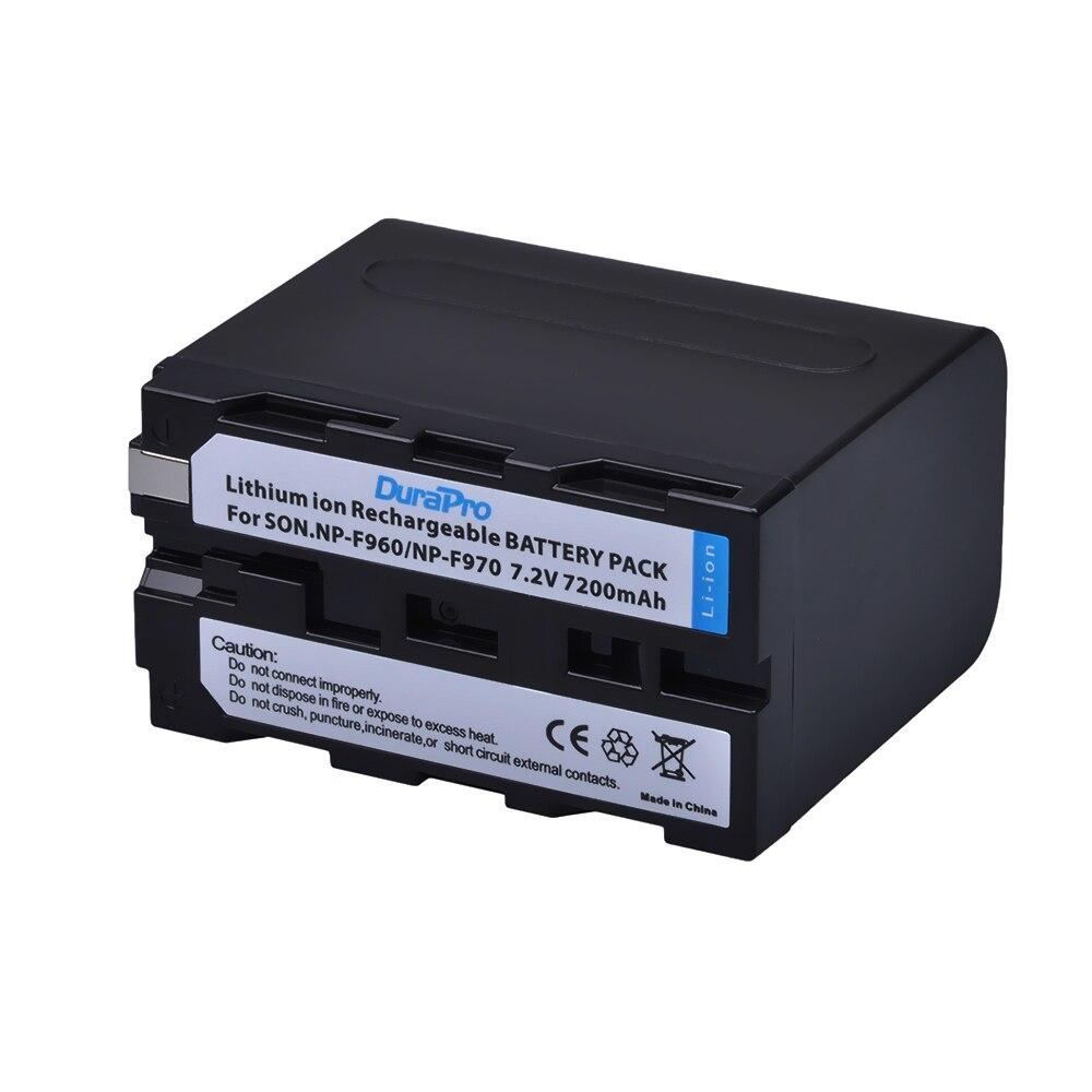 2x7200 mAh NP-F970 NP-F960 NP F970 Batteries avec alimentation LED Indicateur + LCD Chargeur Rapide pour SONY HVR-HD1000 HVR-HD1000E HVR-V1J - 2