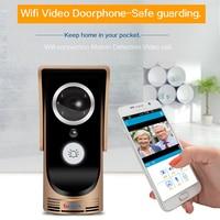 HD Wireless WiFi Kamera Wideo Dzwonek Wizjer Viewer IR Noc Wersja Wizualna Domofony Domofon Inteligentny Dzwonek