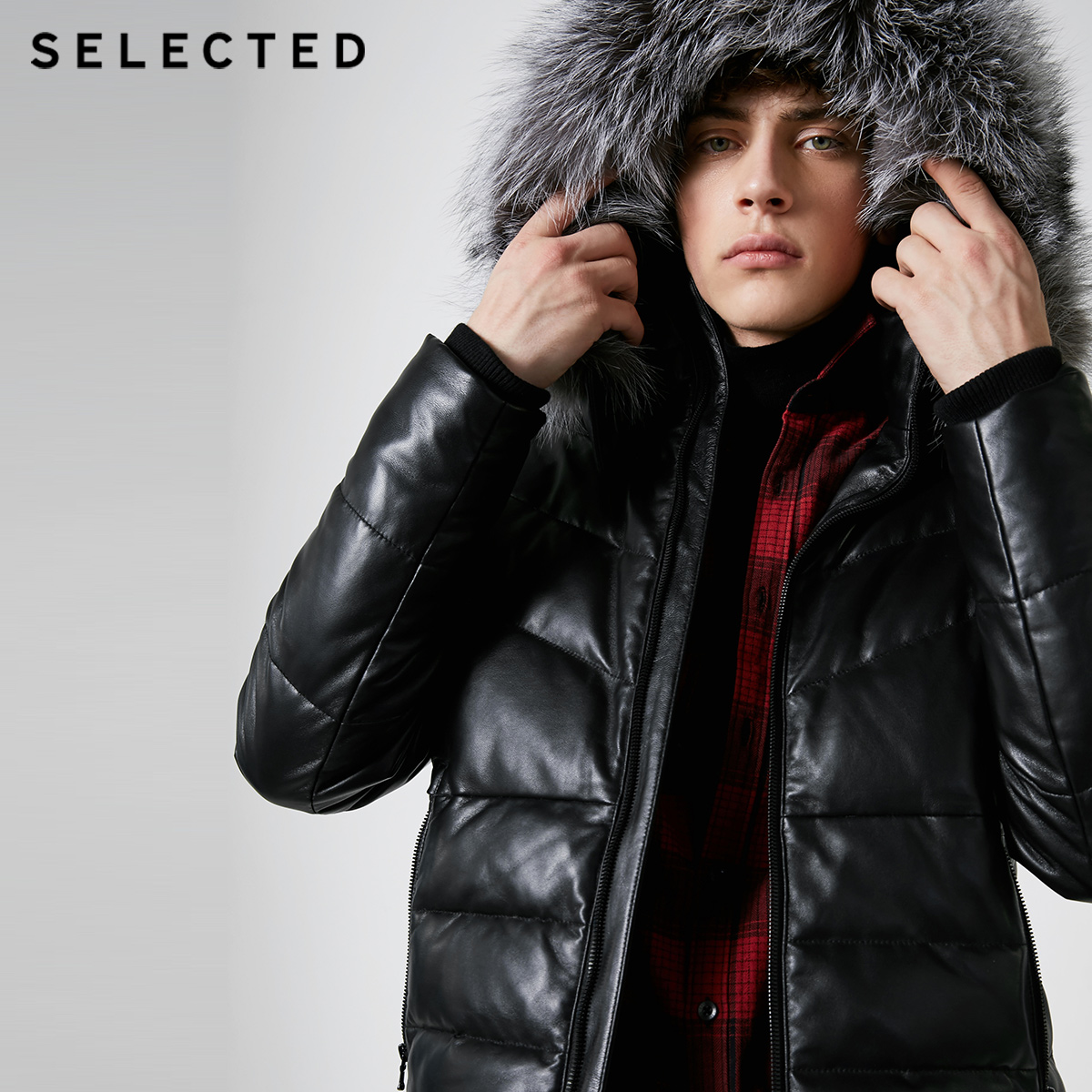 SELECTED Winter   Down   Jacket New Style Men's Fox Fur Collar Clothes Sheepskin Short   Down   Suit   Coat   S|418412568