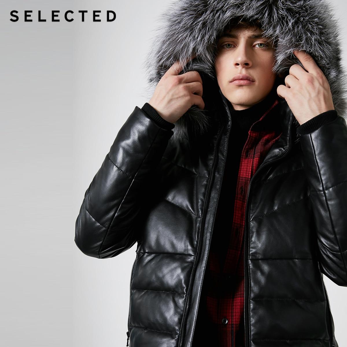 SELECTED hiver nouveau Style hommes fourrure de renard col en peau de mouton court bas costume S | 418412568