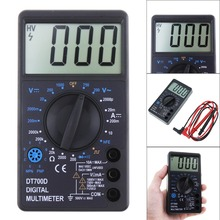 цена на LCD Digital Multimeter DT700D DC/AC Voltage Diode Freguency Multitester Measuring Tool with Dual-slope integration A/D Converter