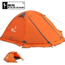 FLYTOP haute qualité 3 personne double couche imperméable coupe-vent camping en plein air tente avec jupe pare-neige