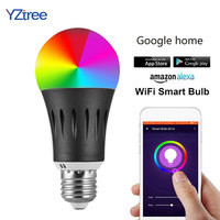 Smart WIFI Led Dimmer Bulb Light 7W B22 E14 E26 E27 RGBW Wireless Phone Remote Control Bulb Lamp Work With Google Home Alexa