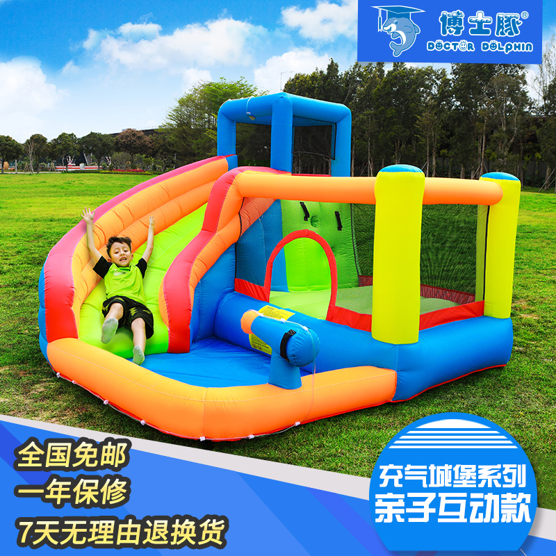Children S Inflatable Swimming Pool Castle Indoor Small Doctoral Dolphins Slide Home Large Play Toy Outdoor Naughty Trampoline Aliexpress
