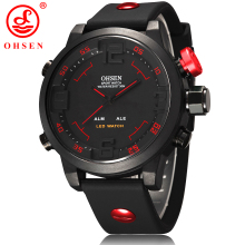New Fashion OHSEN Led Digital Watch Analog Quartz Watch Sports Watches Men Waterproof Relogio Masculino Casual wristwatches AS20
