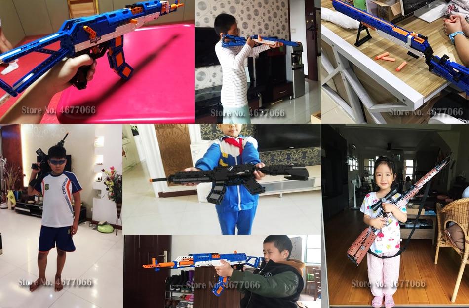 cada building blocks technic gun toy models & building toy gun model 98k bricks educational toys for children ww2 toys for kids 65