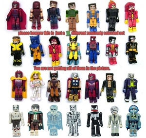 Random Select Lot of 10 Minimates Marvel X-Men DC LOTOR Spiderman Ironman Vemon Action Figure Bloks Building Toy Doll(China)