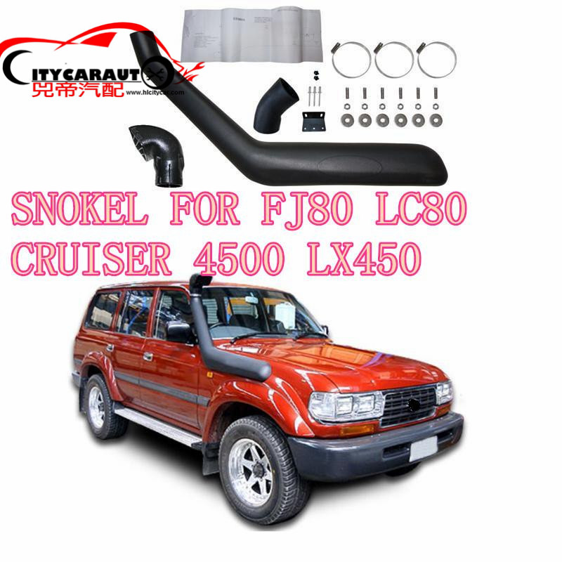 CITYCARAUTO AIRFLOW SNOKEL FOR LANDCRUISER 4500 80 SERIES (ALL MODELS)LC80 FJ80 LX450 Air Intake LLDPE Snorkel Kit Set citycarauto 2007 2011 airflow snokel fit for jeep wrangler jk series 3 8l v6 air ram intake snorkel kit black