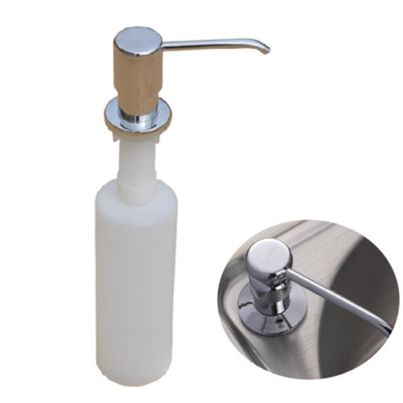 300ml kitchen sink liquid detergent shampoo soap dispenser brushed nickel head abs bottlechina kitchen sink