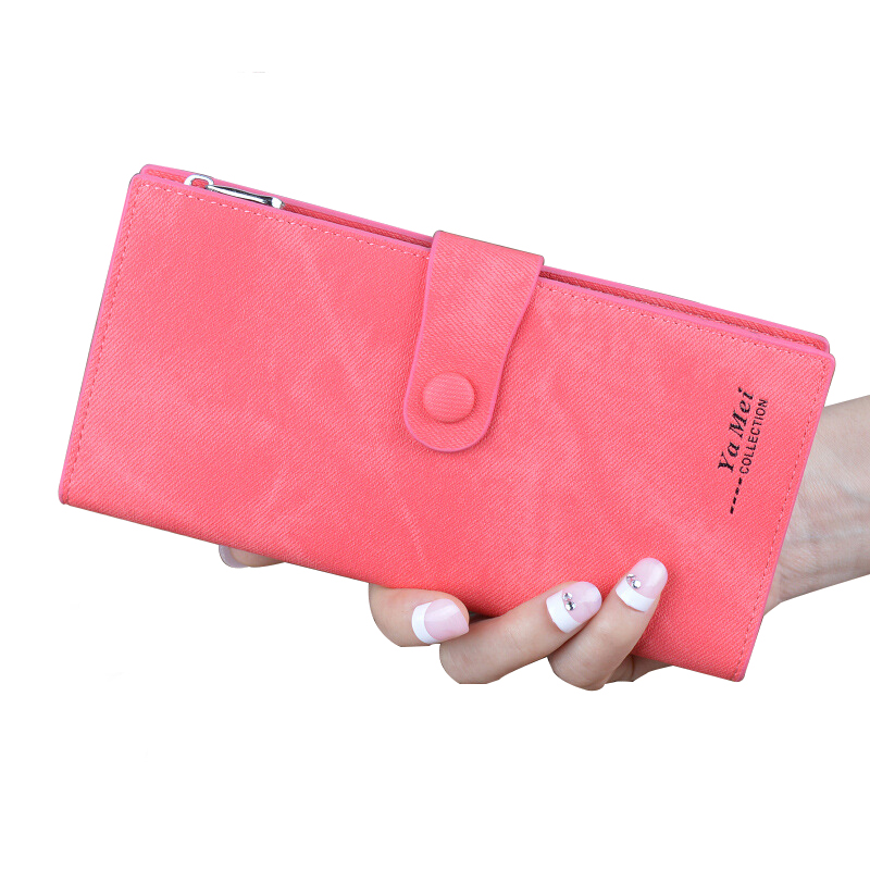 Womens Wallets And Purses Leather Wallet Female Long Handy Famous Brand Card Holder Purses Money Women High Quality Clutch aelicy long clutch women wallet female simple retro owl printing womens wallets and purses luxury brand famous card holders