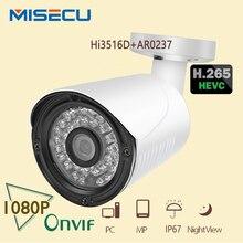MISECU Newest H.265 Full HD IP Camera 2.0MP Hi3516D AR0237 36pc IR LED 1920*1080P Camera ONVIF Waterproof P2P Night PC&Mobile