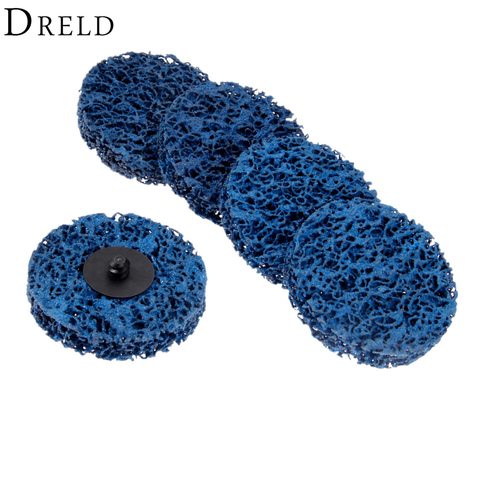 DRELD 5Pcs 75mm/3inch Poly Strip Wheels Paint Rust Removal Clean Right Angle Grinder Discs For Metals Fiber Glass Stone Wood