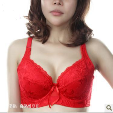 Free shipping  The super side closing gather adjustable codes big cup bra C cup D cup bra thin section