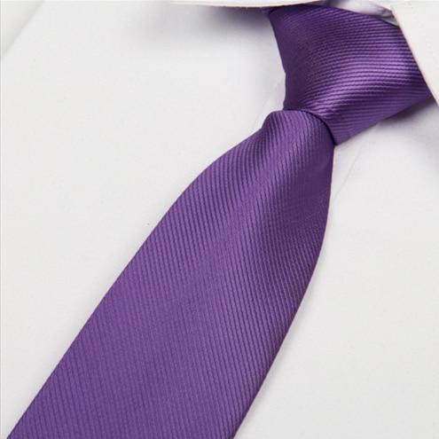 Luxury Brand Mens Purple Ties Lavender Neckties Corbatas Para Hombre New 2018 Gravata Slim Wedding Party Accessories Lote